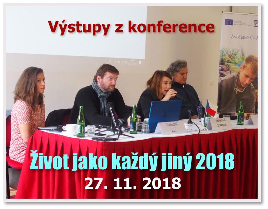 Výstupy z Konference Život jako každý jiný 2018 - Praha, 27. 11. 2018